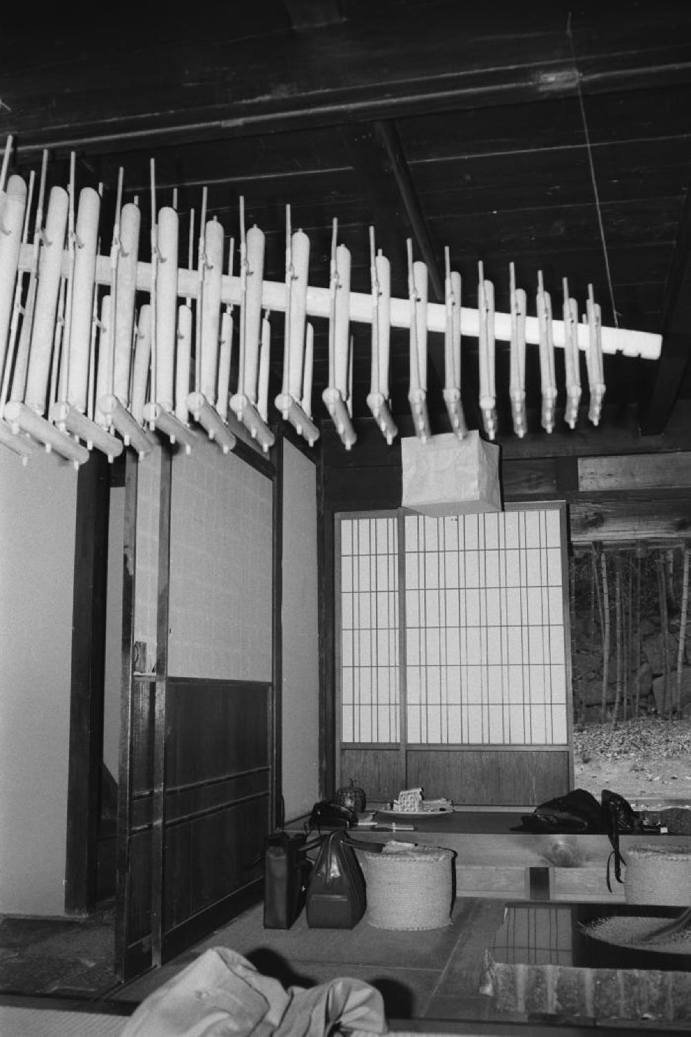 Angklung in Isamu Noguchi's home in Mure, Japan, c. 1980s
