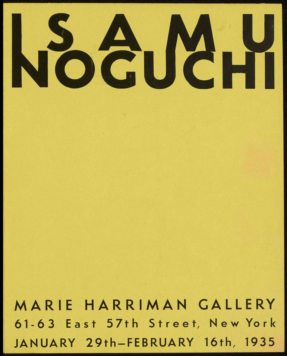 Marie Harriman Gallery exhibition brochure