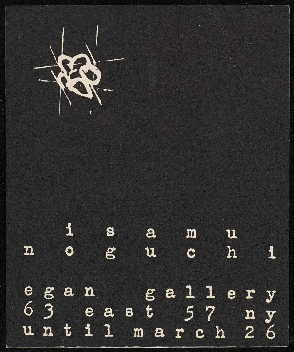 Egan Gallery exhibition brochure