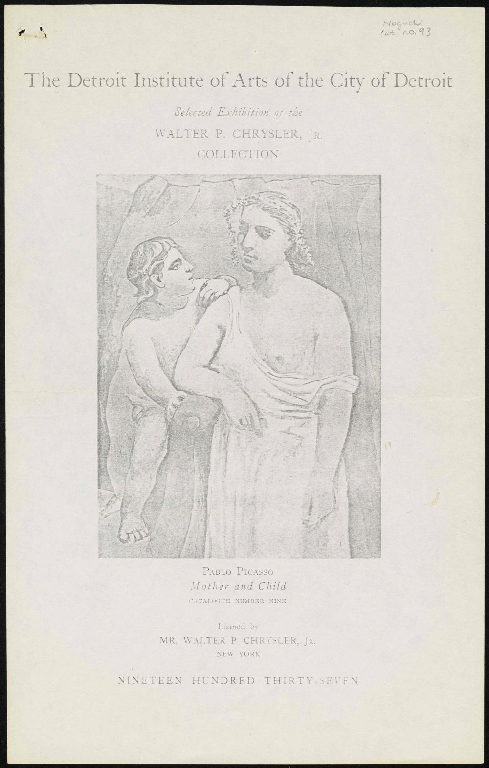 The Detroit Institute of Arts of the City of Detroit exhibition catalog