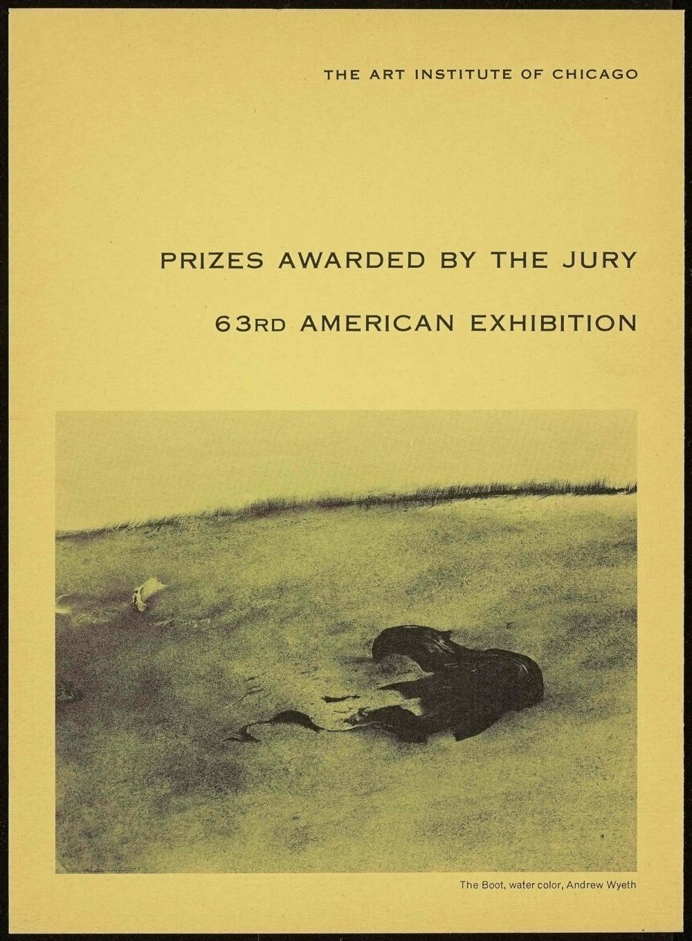 Art Institute exhibition prizes pamphlet