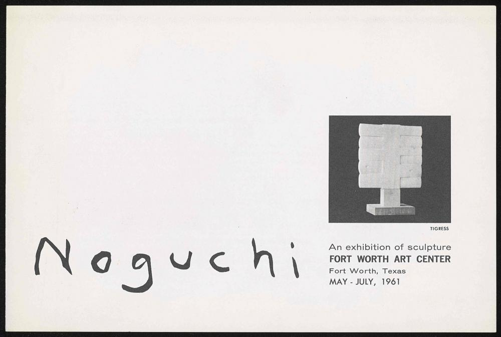 Fort Worth Art Center exhibition brochure